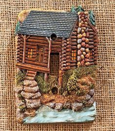 RUSTIC-LODGE-CABIN-PINE-CONE-THEMED-LIGHT-SWITCH-OUTLET-PLATE-COVER-HARDWARE
