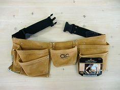 ワークエプロン8ポケット(スエード皮製腰袋)