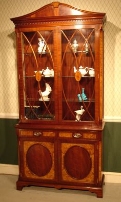 Mahogany Display Cabinet With Gl Sides Glazed China Are A Feature On This Two Door Traditional That Has Been Constructed From