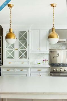 Gold and white. Marble back splash. gibbsboro kitchen