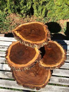 Large Log Black Walnut Wood Rustic Cake 50 by TheShindiggityShoppe
