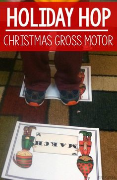Holiday Hop - Christmas Gross Motor This game is perfect for preschool gross motor, physical education, therapies or at home. Make movement a must in your classroom and home! Fine Motor Activities For Kids, Movement Activities, Christmas Activities For Kids, Preschool Christmas, Music Activities, Infant Activities, Preschool Activities, Winter Activities, Kindergarten Music