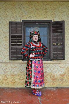 Europe   Portrait of a woman wearing traditional clothes, Osijek-Baranja, Croatia #embroidery