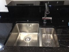 Why have a Franke or Blanco undermounted kitchen sink when for a fraction of the price you can have a Bluci Orbit 01!  Thanks to this customer who sent in this picture.  With Star Galaxy granite and drainer grooves, the Bluci sink looks fantastic and super stylish. Real Kitchen, Kitchen Sink, Designer Kitchen Taps, Blanco Sinks, Spray Insulation, Sink Taps, Waste Disposal, Corian, Granite