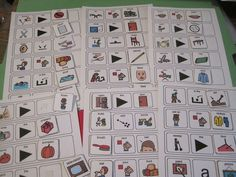 6 Verb Noun Verb Action Object Matching Boards Autism Speech Therapy Teacher PK+