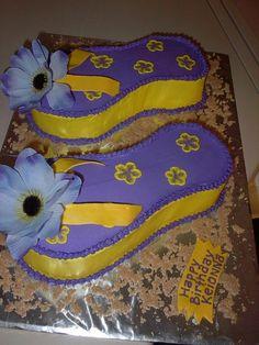 Flip flop cake