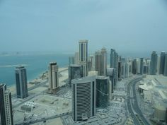 View from Intercontinental Hotel Doha The City