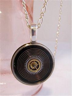 Steampun watch parts necklace  Vortex   Steampunk by steampunkjunq, $28.95
