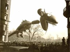 Vintage 1937, Nantucket Sea Monster, Macy's Thanksgiving Day Parade, NYC, www.RevWill.com