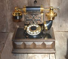 Antique Telephone  Vintage Telephone  Rotary by SweetVintageTX