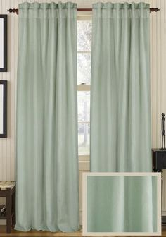 Classic Linen Curtain Panel - Draperies & Tiebacks - Window Treatments - Linens & Fabrics | HomeDecorators.com