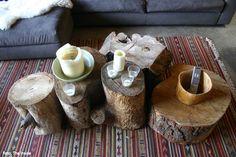 Galhos e troncos de árvores ganham utilidades diversas.
