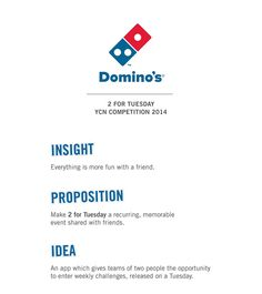 Domino's Pizza 2 for Tuesday YCN 2014 on Behance