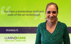We're happy to share another LuminCARE testimonial, this time from recent patient Kristina A.! #Testimonial #LuminCARE #DFW #Healthcare
