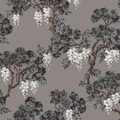 wisteria wallpaper bathroom - photo #10