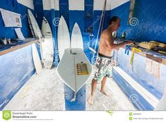 surfboard shaping | Surfboard Shaping Bay Surfing Editorial Stock Image