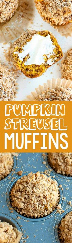 Pour a hot cup of coffee and grab one of these Pumpkin Spice Streusel Muffins, stat! The cinnamon sugar streusel absolutely makes these muffins.