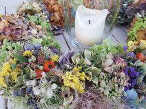 Blumenkranz aus Hortensien