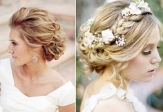 classic weddng updos | Sweet Bridal Updos Romantic Wedding Hairstyles blond brides | OneWed ...
