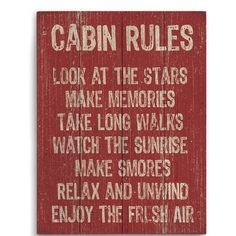 Found it at Wayfair.ca - Cabin Rules Textual Art in Red
