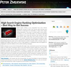 Search engine ranking is now inseparable from every internet entrepreneur, because of that it has become quite necessary and important to understand the technicalities of high search engine ranking optimization.