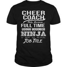 (Tshirt Suggest Discount)  CHEER COACH  NINJA  Tshirt-Online