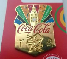 LONDON 2012 PARALYMPIC COCA - COLA DAY OF THE GAMES - DAY 1 OPENING PIN BADGE