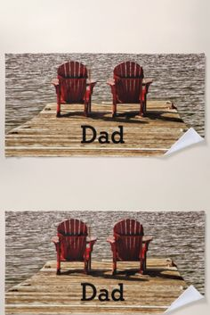 Cottage Adirondack Chairs Dad Beach Towel fathers day gifts for grandpa, diy fathers day gifts ideas from kids, diy gifts for mothers day Diy Gifts For Mothers, Diy Father's Day Gifts, Father's Day Diy, Gifts For Father, Happy Fathers Day, Grandpa Gifts, Beach Chairs, Kids Diy, Adirondack Chairs