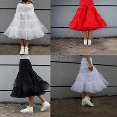 Women 2 Layer Swing Underskirt Rockabilly Dance Petticoat Crinoline New
