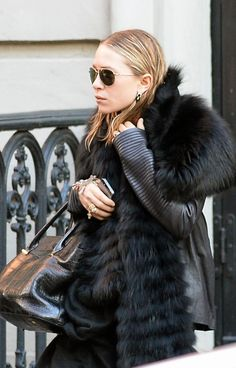 MARY-KATE | FUR + LEATHER IN NYC