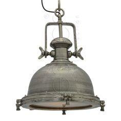 Stoere hanglamp 50 cm bol rough nickel, doe mij er maar 2 voor de keukentafel.