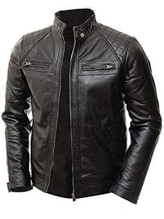 Shop the latest collection of Abbraci Men's MotoBiker Vintage Shade Cafe Racer Quilted Motorcycle Padded Shoulder Wax Real Lambskin Leather Jacket from the most popular stores - all in one place. Similar products are available. Lambskin Leather Jacket, Leather Men, Black Leather, Real Leather, Biker Style, Jacket Style, Leather Jackets Online, Leather Jackets For Men, Stylish Clothes