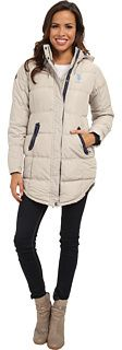 U.S. POLO ASSN. Long Hooded Puffer Coat w/ Ribbon Taping Detail, Take a stroll under the stars, but stay warm and cozy with U.S. POLO ASSN.. Puffer jacket design with stitching details throughout. Slightly filled for added warmth. Snap-off hood. Full-front zipper closure with contrast bias taping and snap-down flap. Contrast brand logo stitched at left chest. Long sleeves with brand patch stitched at right shoulder.