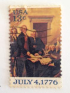 US Postage Stamp _ 13 cent Declaration of Independence