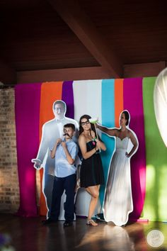 This is such a fun idea for a wedding photobooth! Cardboard cutouts of the bride and groom to have your photo taken next to! wedding photo booth Abbey Grim Photography-Northwest Indiana Wedding- » Northwest Indiana, Valparaiso Indiana Wedding-Portrait-Family Photographer