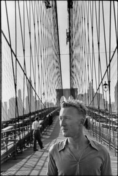 Henri Cartier-Bresson - New York City. Brooklyn Bridge. 1947. French writer and journalist, Claude ROY.