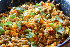 Cauliflower Rice, Sausage and Vegetable Stir-Fry - Calm Eats Cauli Rice, Cauliflower Rice, Pork Recipes, Paleo Recipes, Paleo Stir Fry, Vegetable Stir Fry, Easy Weeknight Dinners, Fried Rice, Grain Free