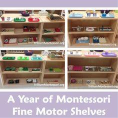 A Year of Montessori Fine Motor Shelves