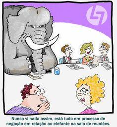 """Um Elefante chamado """"Muda"""". Muitos são incapazes de o ver, outros ignoram-no, mas ele está sempre lá. Lean Thinking é a solução para a eliminação dos desperdícios nos processos e a criação de valor para clientes e demais stakeholders da organização. Votos de uma boa semana, João Paulo Pinto, www.cltservices.net"""
