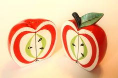 apple salt and pepper shakers | Apple salt and pepper shakers. *covets*