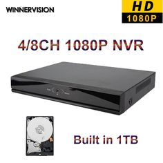 122.74$  Buy here - http://aliey4.worldwells.pw/go.php?t=32617069997 - DHL Free shipping New 1080P HD Network Video Recorder 4CH 8CH NVR IP Camera Recorder Surveillance ONVIF Mini NVR with 1TB HDD 122.74$