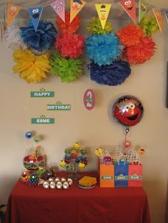 sesame street party decorations (great ideas)