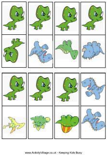 Dinosaur snap cards