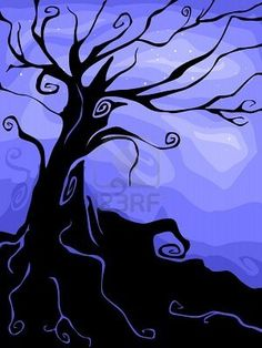 halloween tree silhouette - Google Search