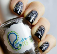 Base is Cha-Ching! by Pipe dream polish. The stamp is Moyou mother nature plate 8.