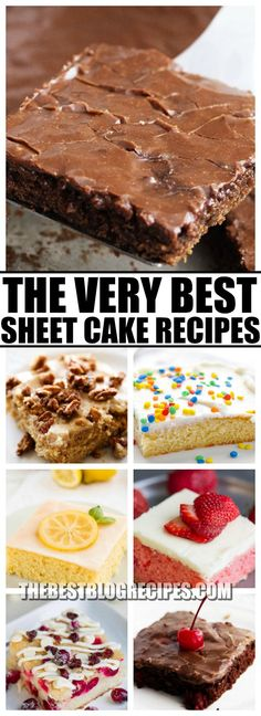 Nothing is better than The Best Sheet Cake Recipes! You are going to love the sweet delicious flavors of these treats and that you can serve so many people with just one cake. via @bestblogrecipes