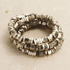 HEX NUTS BRACELET - hit the hardware store and string it on memory wire