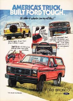 Ford Bronco ad.