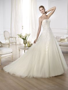 Pronovias Bridal Collection.  Available at Designer Bridal Room