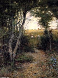 Ti-Tree Glade (2), huile sur toile de Frederick Mccubbin (1855-1917, Australia)